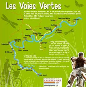 Voies vertes et pistes cyclables Sarlat / Dordogne