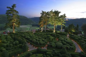 Jardins Marqueyssac chandelles