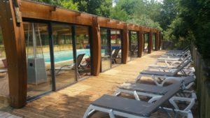 piscine couverte chauffée Sarlat village du paillé