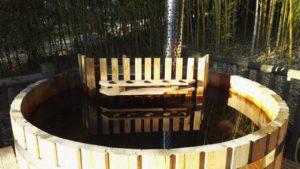 Bain nordique sarlat dordogne poele à bois