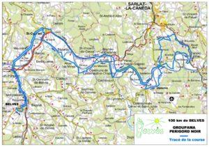 100 KMS Belves Championnat de France, le parcours