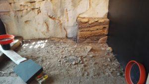 maison du piage , les fouilles