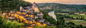 La Dordogne entre Castelnaud et Beynac panorama vacances nature Dordogne