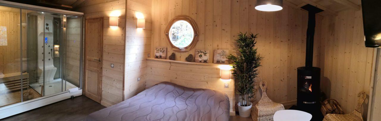 Cabane Sarlat Dordogne avec sauna hammam et jacuzzi