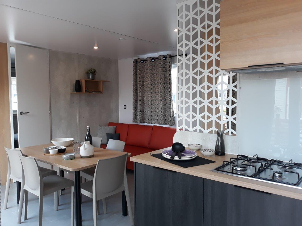 cuisine cottage mobil home sarlat 3 chambres 6 personnes