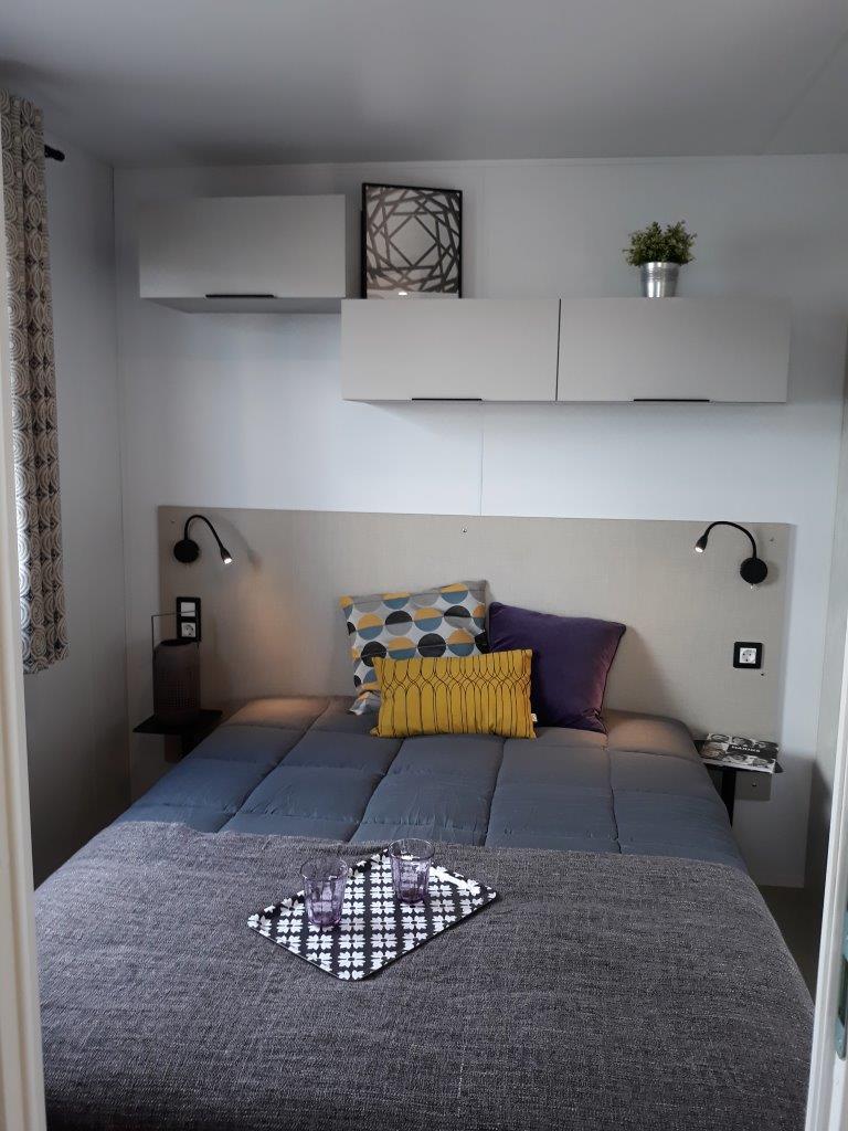 chambre parent cottage mobil home sarlat 3 chambres 6 personnes